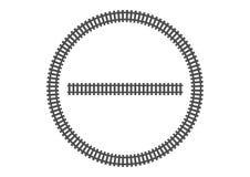 Locomotive railroad track frame rail transport background border silhouette banner transport illustration Stock Photography