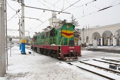 Locomotive in Simferopol, Crimea, Ukraine Royalty Free Stock Photo