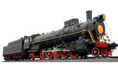 Locomotive retro. Locomotive train transport travel vintage old isolated Stock Images