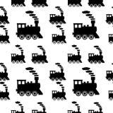 Locomotive seamless pattern Stock Photography