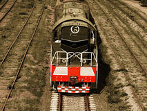 Locomotive.Selective sepia. Stock Photography