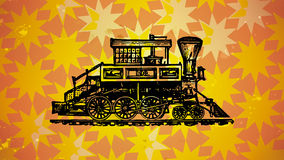 Locomotive and Star Pattern Royalty Free Stock Photography