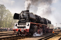 Locomotive. Steam locomotive on parade in Wolsztyn, Poland Royalty Free Stock Photo