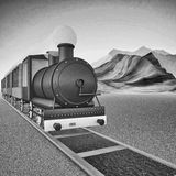 Locomotive of steam train Stock Image