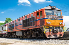 Locomotive of Thailand train Royalty Free Stock Image