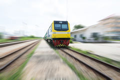 Locomotive train is moving Stock Photography