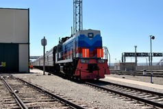 Locomotive, Trans-Siberian train royalty free stock images