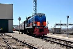 Locomotive, Trans-Siberian train Royalty Free Stock Images