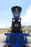 Locomotive. In Utah America Golden Spike Royalty Free Stock Image