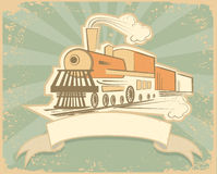 Locomotive.Vintage background Stock Images