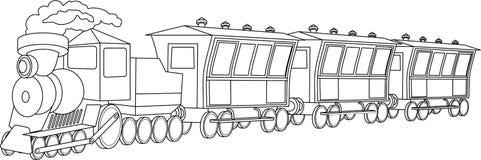 Locomotive. Vintage style Stock Photo