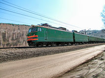 Locomotive. The locomotive was photographed in the Kemerovo region, Russia Royalty Free Stock Image