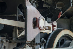 Locomotive wheel and gear stock image