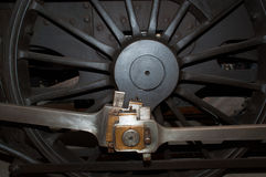 Locomotive wheel. Old locomotive wheel from a railway museum in odense Stock Photos