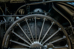 Locomotive wheel. Old train wheel in a museum 2 Royalty Free Stock Photo