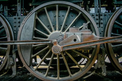 Locomotive wheel. Old train locomotive wheen stock photography