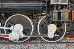 Locomotive wheel of retro train Royalty Free Stock Photos