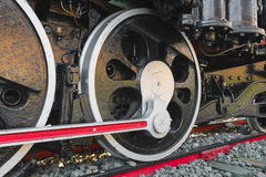 Locomotive wheel of retro train Royalty Free Stock Photography