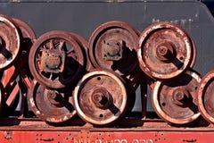 Locomotive wheels Stock Photography
