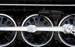 Locomotive wheels. Wheels of an old steam powered locomotive Royalty Free Stock Photo