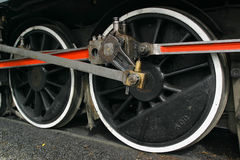 Locomotive Wheels. The wheels of a steam locomotive Stock Images