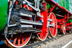 locomotive wheels coarsely,fragment Stock Image