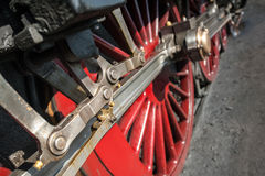 Locomotive wheels Stock Image
