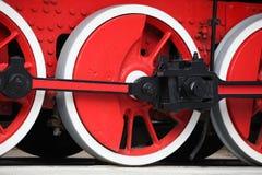 Locomotive wheels flywheel Stock Image