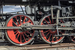Locomotive wheels Royalty Free Stock Photography