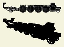 Locomotive Wheels Vector 01. Locomotive Wheels Isolated Illustrated Vector Stock Photos