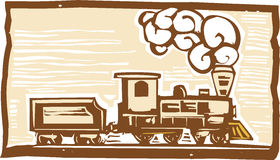 Locomotive Woodcut Stock Image