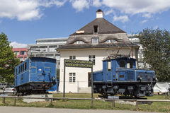 Locomotives of the Bavarian Zugspitze Railway in Munich, 2015 Royalty Free Stock Images