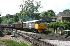 A1A Locomotives Class 31 31108 on the Keighley and Worth Valley. Railway, West Yorkshire, UK - June 2008 Royalty Free Stock Photo