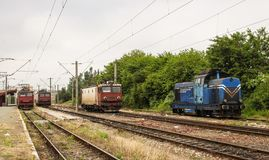 Locomotives de Constanta, Roumanie Photos libres de droits