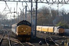 Locomotives diesels-électriques de la classe 37 à Carlisle Photo stock