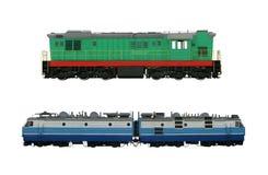 Locomotives. Isolated on white background Stock Image