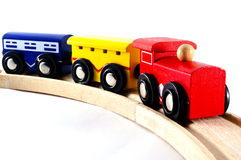Locomotives and Rail Cars Toy Stock Images