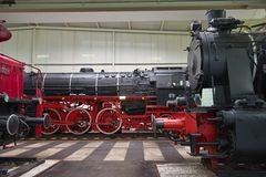 Locomotives in Speyer Technical Museum Royalty Free Stock Photography
