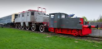 Locomotives in Speyer Technical Museum Royalty Free Stock Images