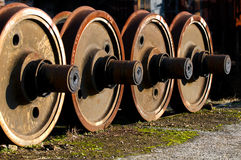 Locomotives wheels Royalty Free Stock Photography
