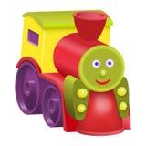 Locomotora aislada de la historieta del juguete Fotos de archivo