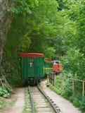 Locomotora con el coche Fotos de archivo