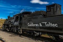 Locomotora de Cumbres y de Toltec Fotografía de archivo