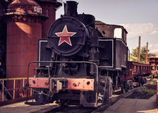 Locomotora de desvío vieja 9PM-161 Imagen de archivo libre de regalías