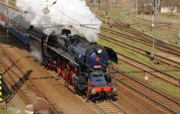 Locomotora de vapor Albatros en el movimiento Fotografía de archivo libre de regalías