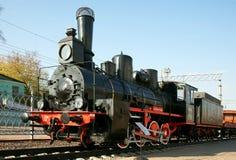 Locomotora de vapor antigua imagen de archivo libre de regalías