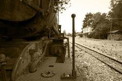 Locomotora de vapor arruinada Imágenes de archivo libres de regalías