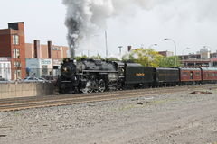 Locomotora de vapor del camino 765 de la placa de níquel Fotos de archivo