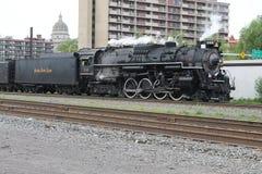 Locomotora de vapor del camino 765 de la placa de níquel Imagen de archivo
