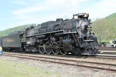 Locomotora de vapor del camino 765 de la placa de níquel Foto de archivo libre de regalías
